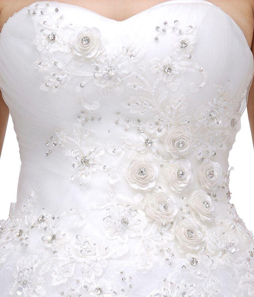 0c5b92cbe82 La Fanatise White Lace Gowns - Buy La Fanatise White Lace Gowns ...