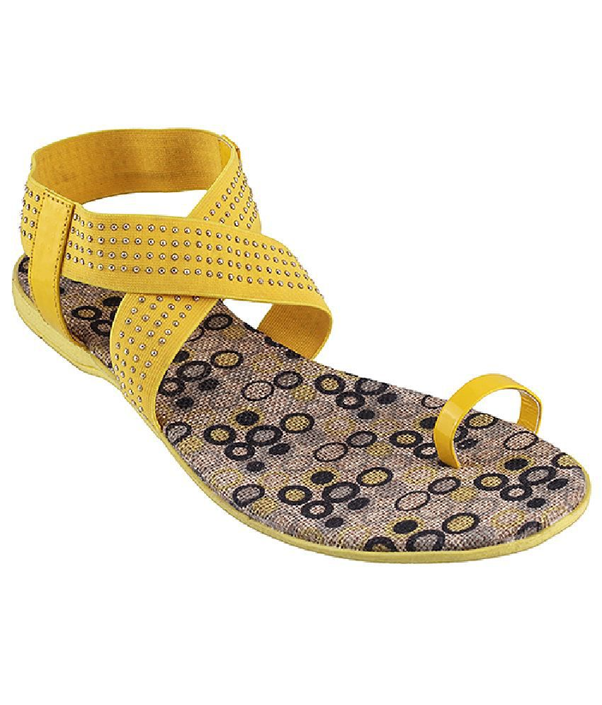 Metro Yellow Sandal