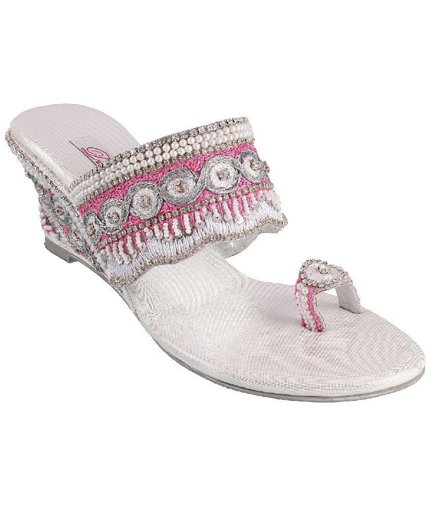Mochi Silver Heeled Slip-on