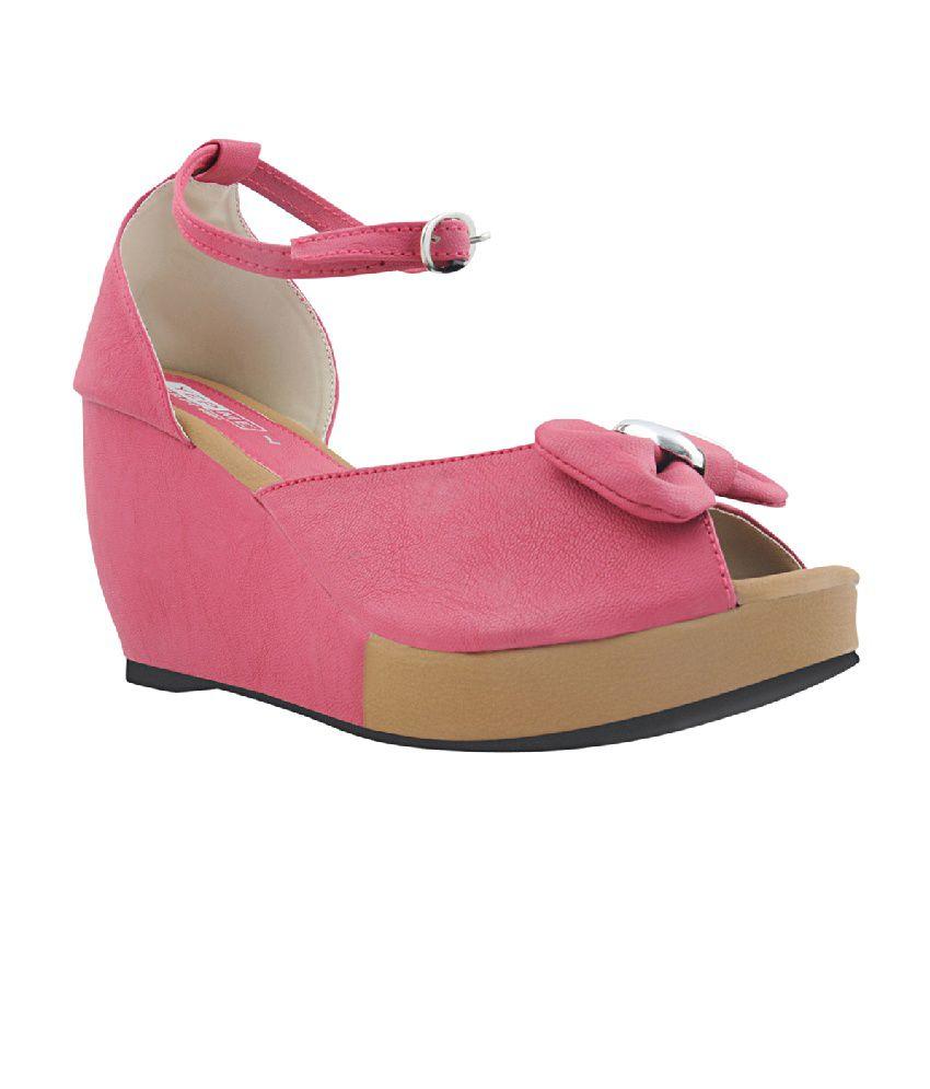 Yepme Pink Wedges Sandals
