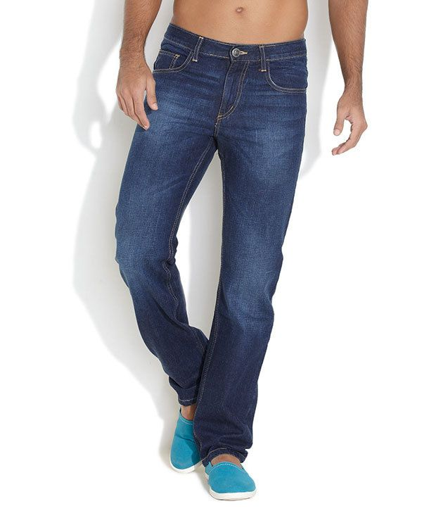 Ferrous Medium Blue Polish Style Punto Slim Fit Jeans