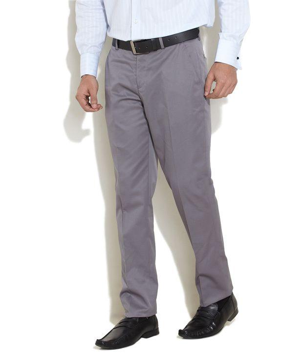 John Miller Light Grey Officially Formal Slim Fit Trousers