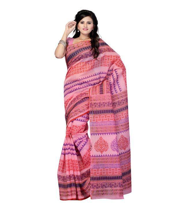 Cotton Bazaar Multi Color Cotton Saree