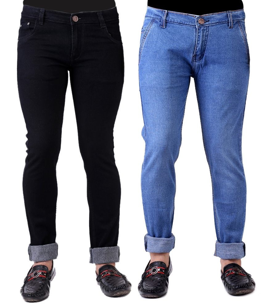 Haltung Set Of 2 Regular Jeans With 1 Pair Of Socks