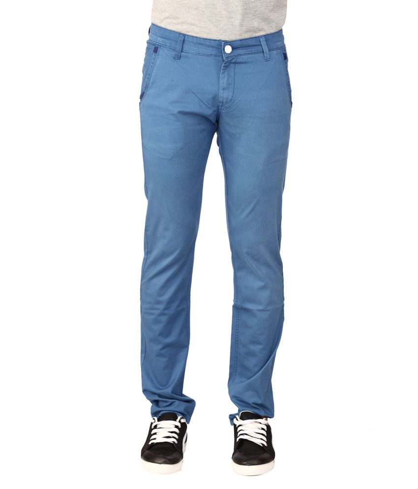 Oxford Blue Slim Fit Chinos