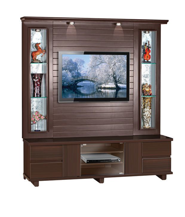 Homecraft tv wall cabinet with display shelves buy for In wall tv cabinet