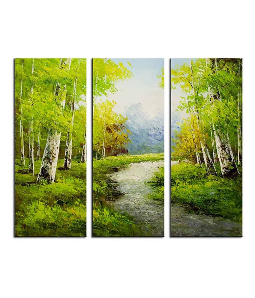 Painting Mantra Nature Landscape 3 Piece Canvas Art Set