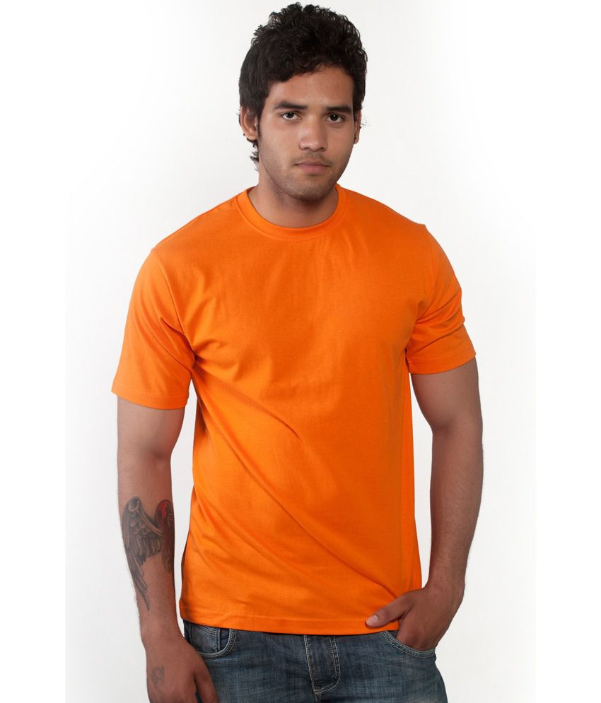 Teamwins Apparels Orange color round neck t-shirt.