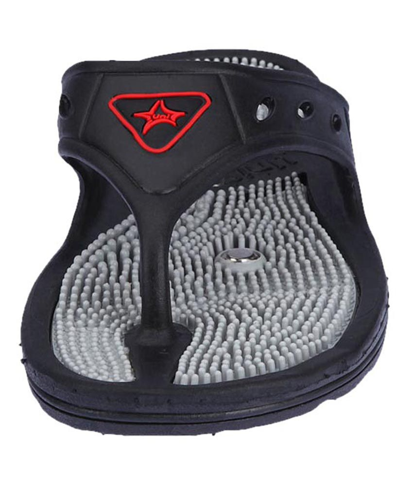 9f47ca16af82 ... Unistar Acupressure Footcare Slippers Sandals with Magnetic Effect - GH- 01- Black ...