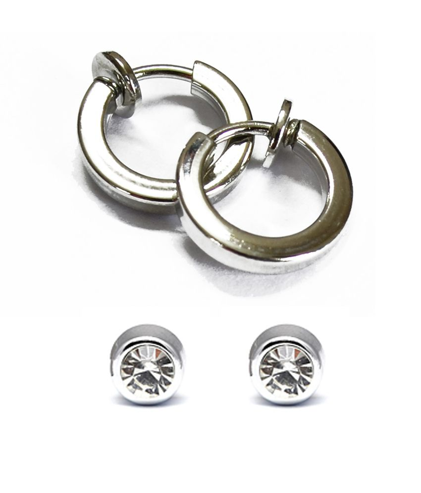 Clip On 2 Earrings Combo For Non Pierced Ears Buy Clip On 2