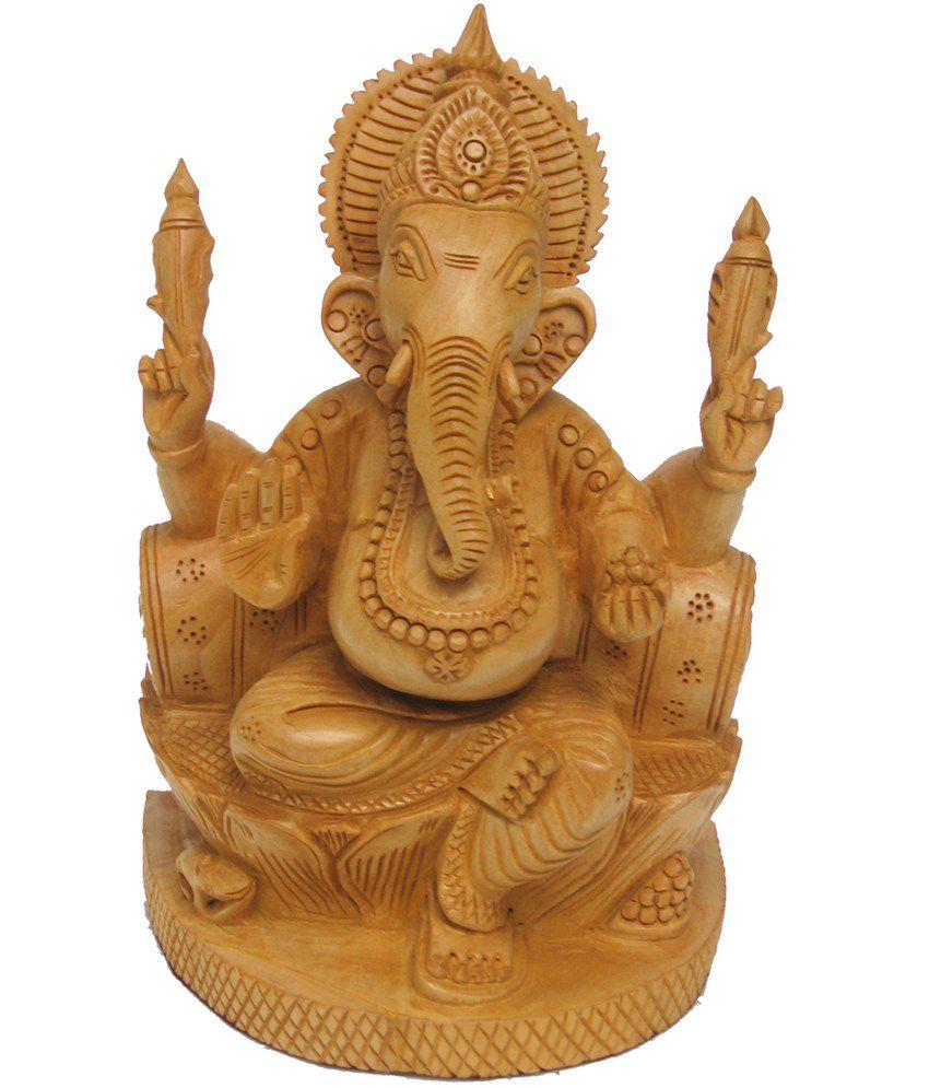 Craftsgallery Wooden Masand Ganesha Handmade Statue