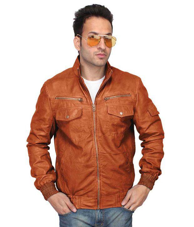2d450a062e2 Breskin Tan Leather Bike Jacket Price in India