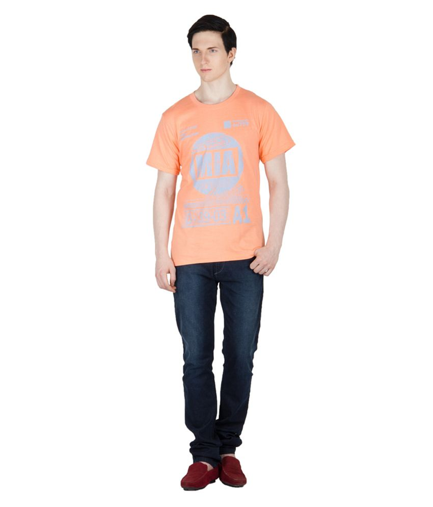 Dazzgear Orange Cotton T-Shirt