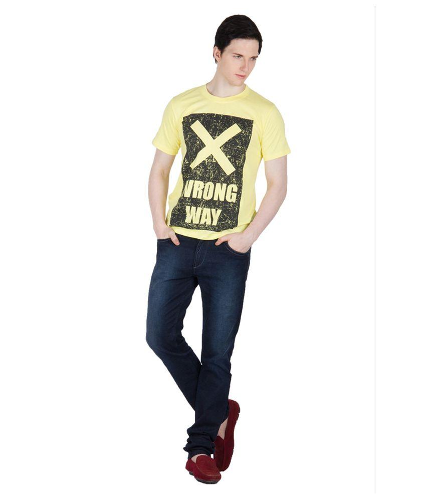 Dazzgear Yellow Cotton T-Shirt