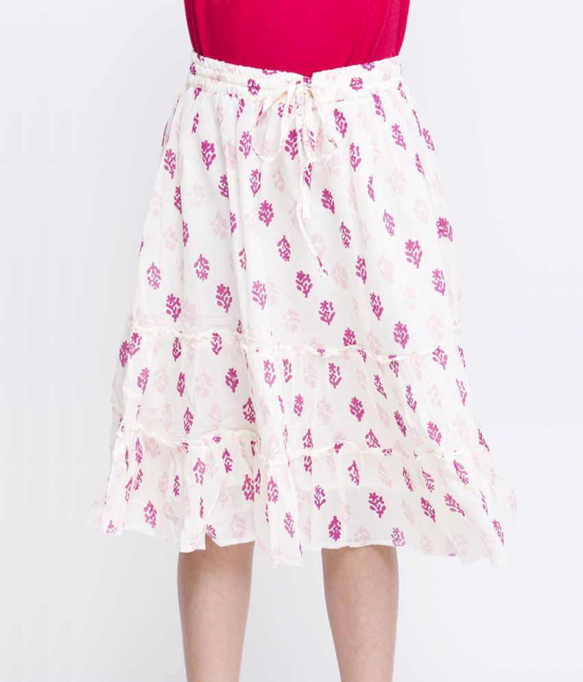 OXOLLOXO Off-White Color Skirts For Kids