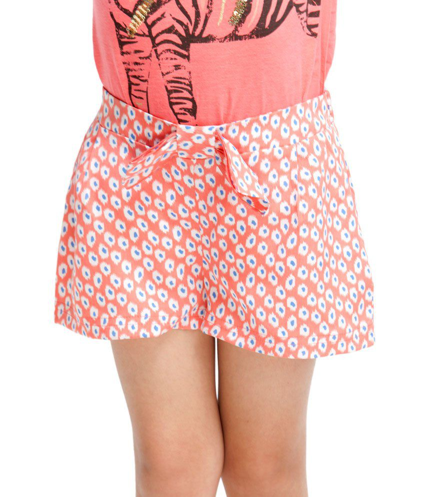 OXOLLOXO Peach Color Shorts For Kids
