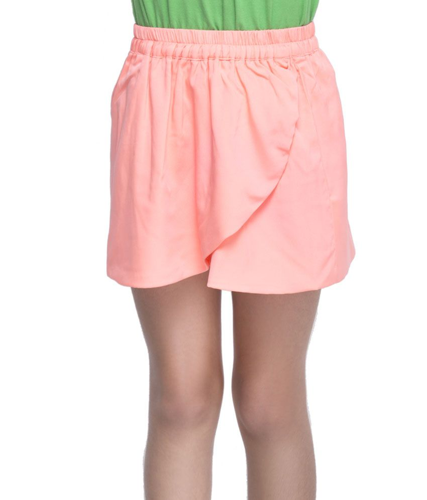 OXOLLOXO Peach Color Skirts For Kids