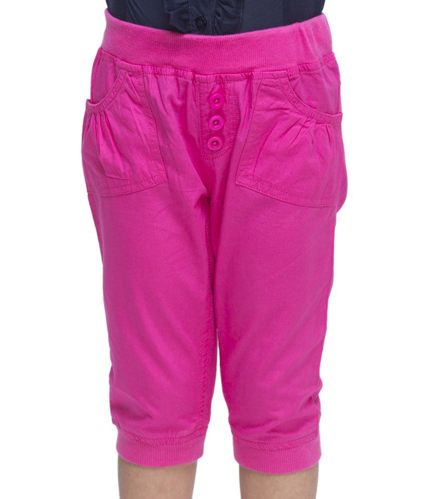 OXOLLOXO Pink Color Capris For Kids