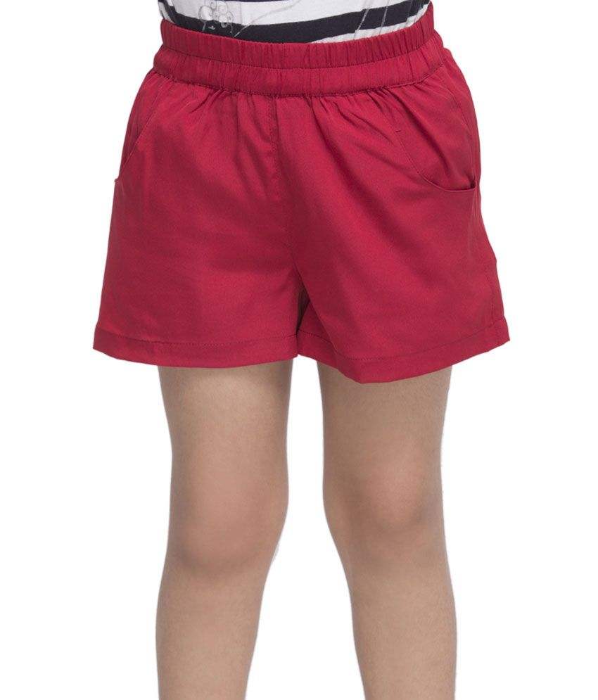 OXOLLOXO Red Color Shorts For Kids