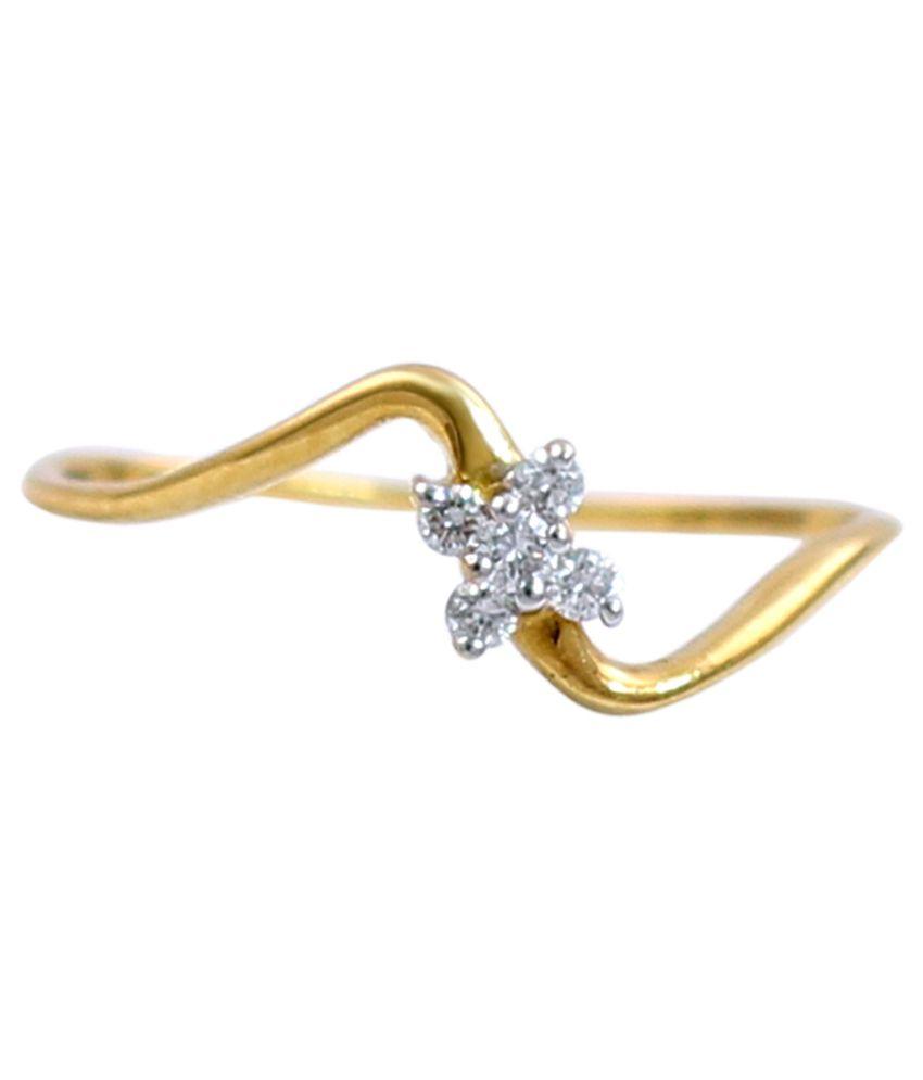Mangal Athavale 18kt Beautiful Gold Diamond Ring