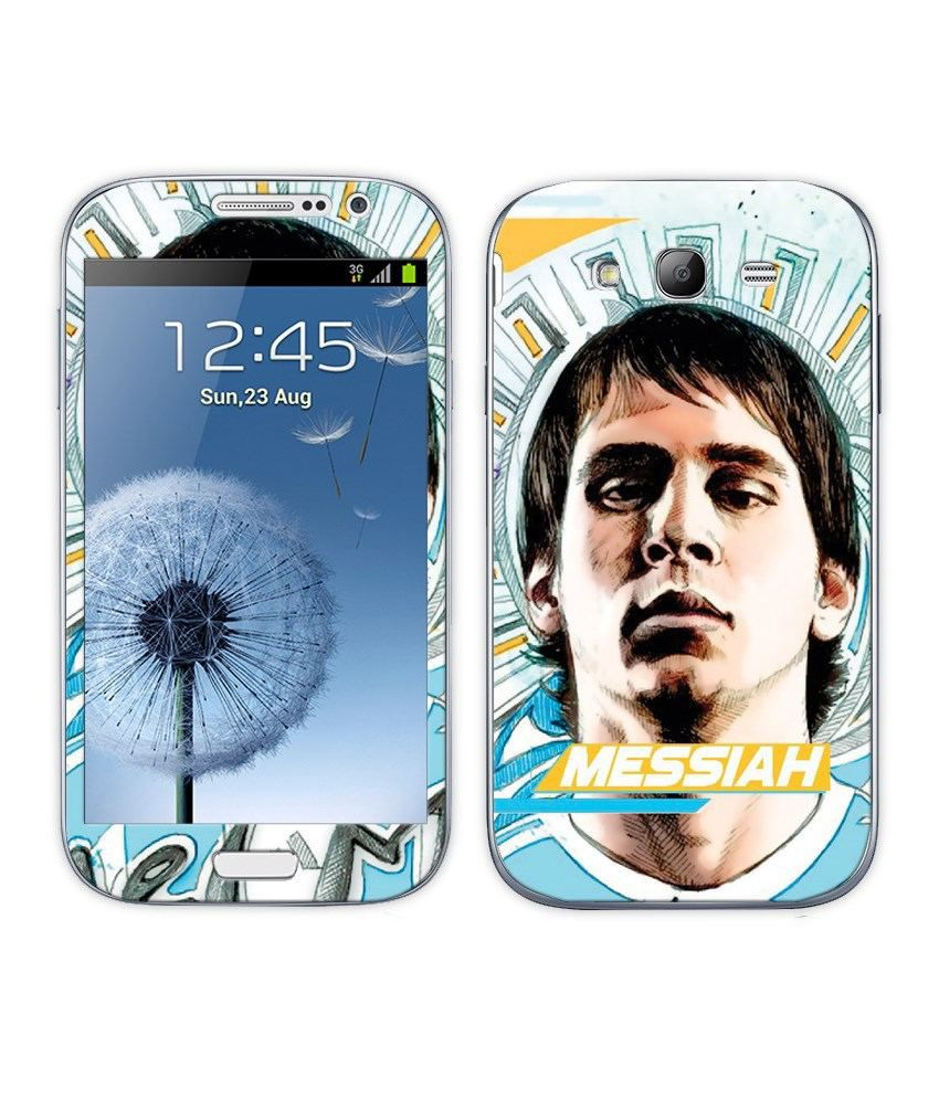 Bluegape Multicolor Mobile Sticker Of Lionel Messi Football Player For Samsung Galaxy Grand Duos I9082