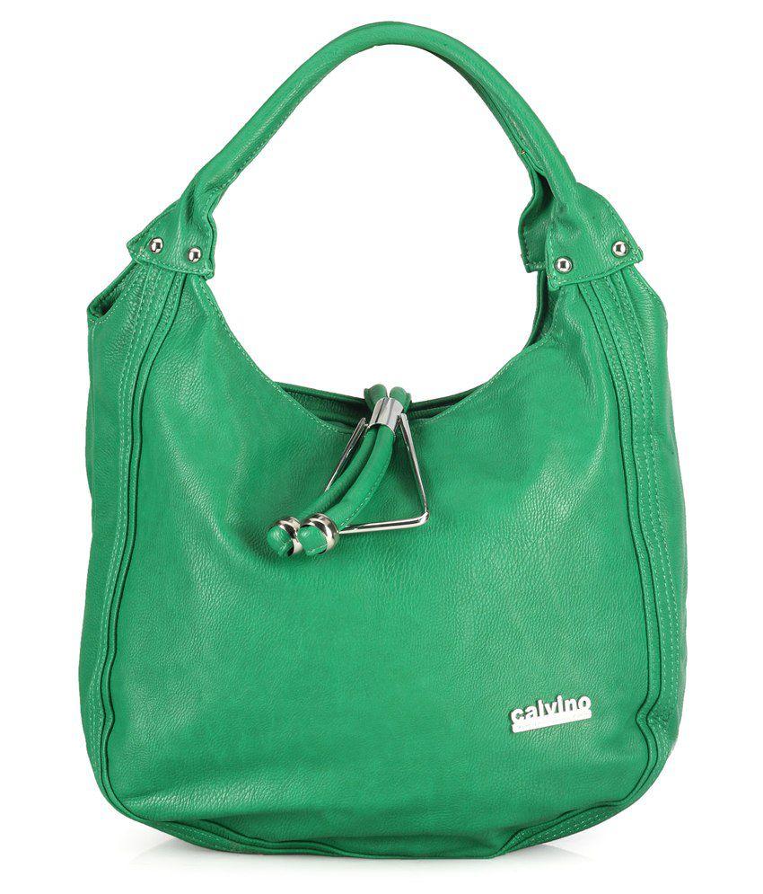 Calvino CL_39905_GREEN Green Shoulder Bags