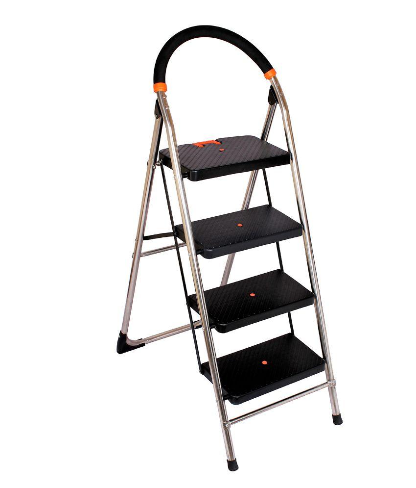 Cipla Plast Ppcp Amp Stainless Steel Folding 4 Steps Ladder