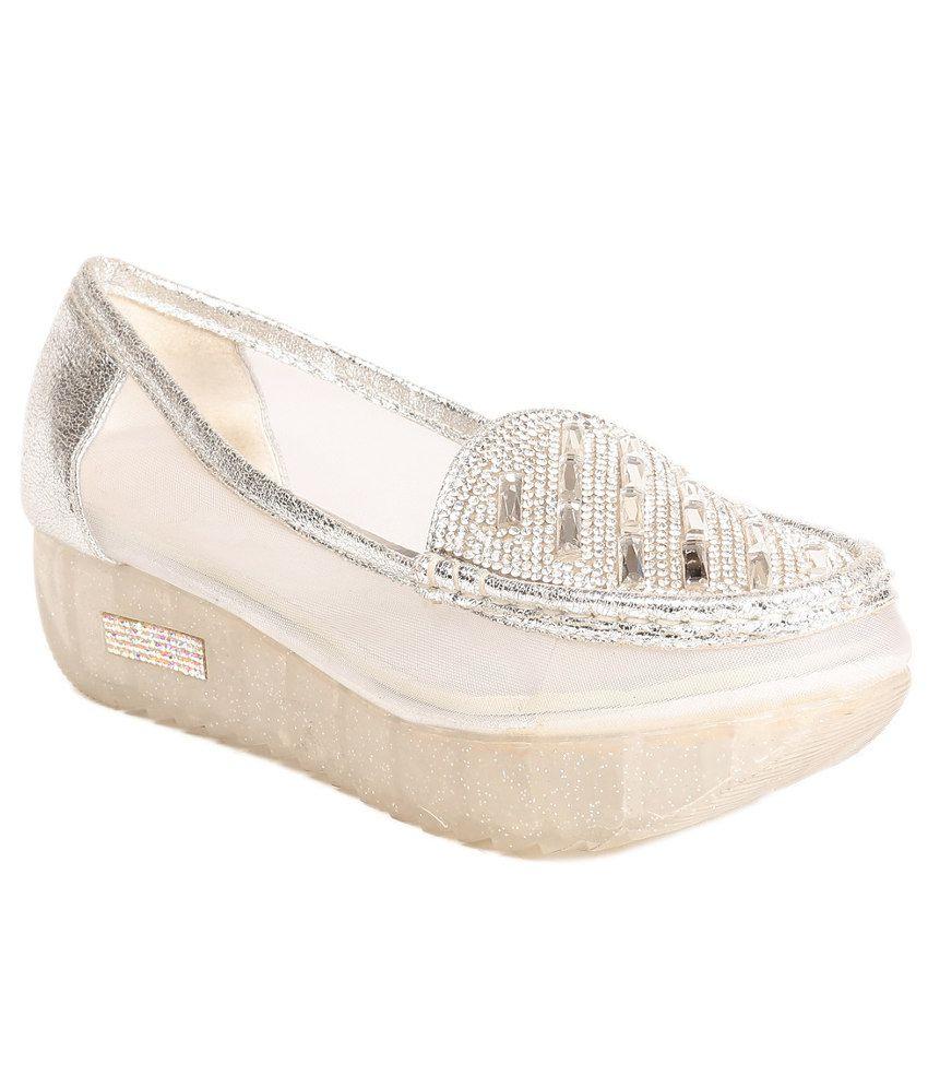 Reyna Silver Heeled Slip-on