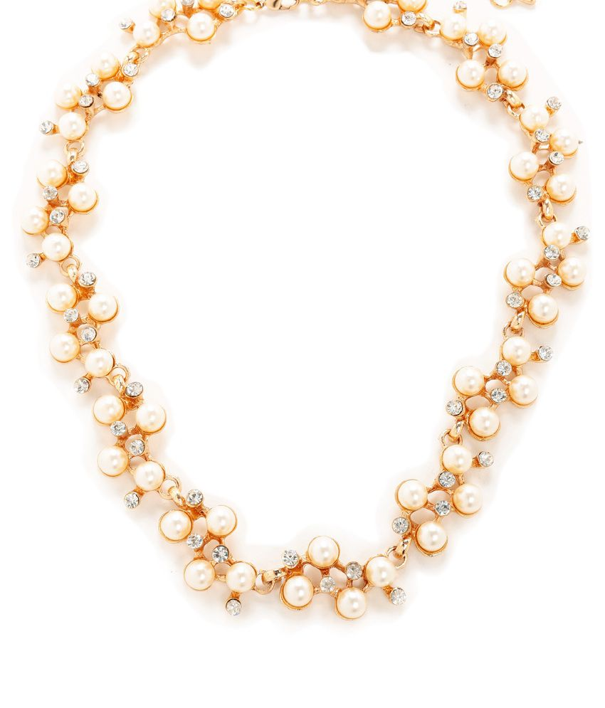 Show Stopper Exclusive White Pearl Beaded Necklace