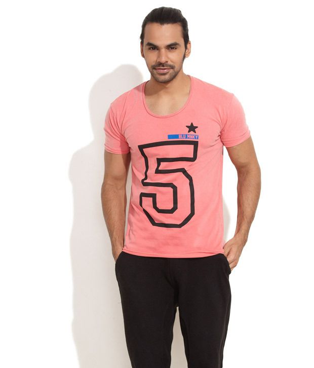 Blue Monkey Pink No.5 Printed T-Shirt