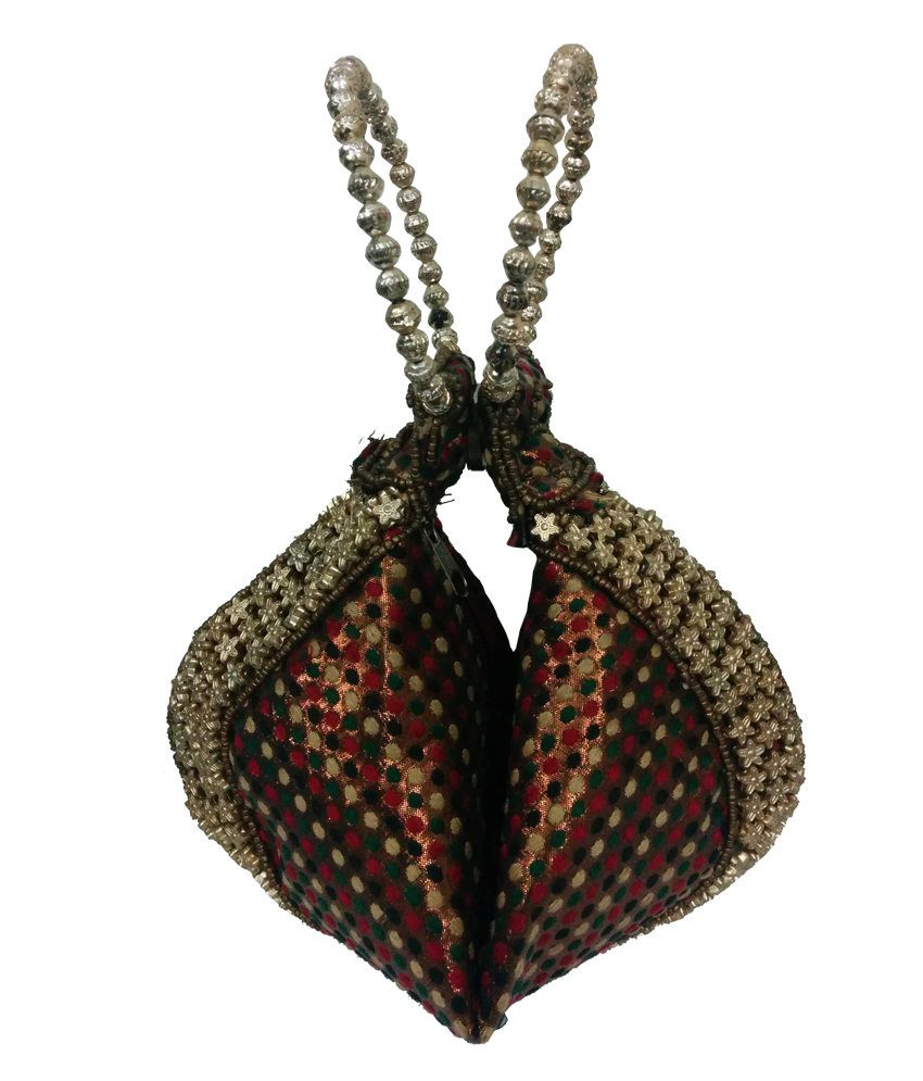 Gotewala Bhopal Gold Non Leather Hand Purse For Women