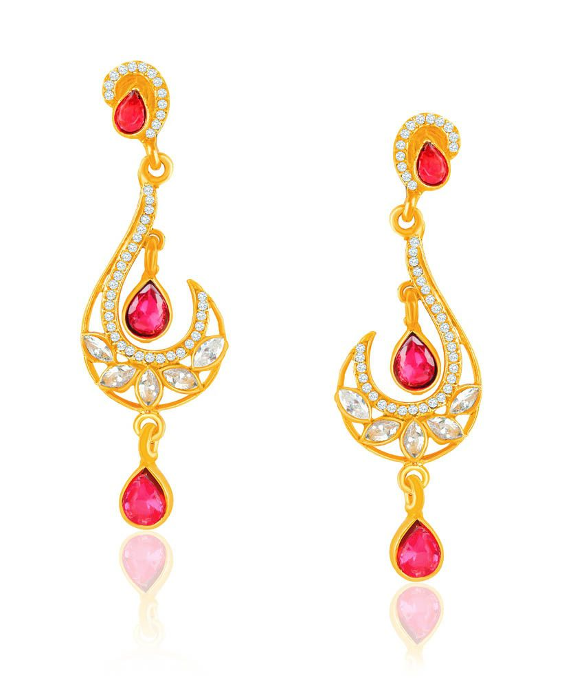Vk Jewels Dazzling Festive Earring Set