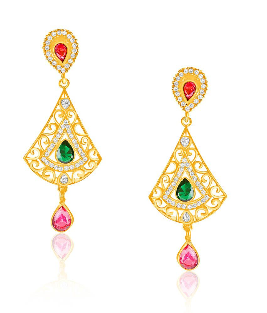 Vk Jewels Stylish Pink Drop Earring Set
