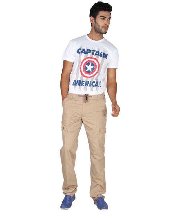Ld Active Khaki Cotton Casual Pyjama Trouser