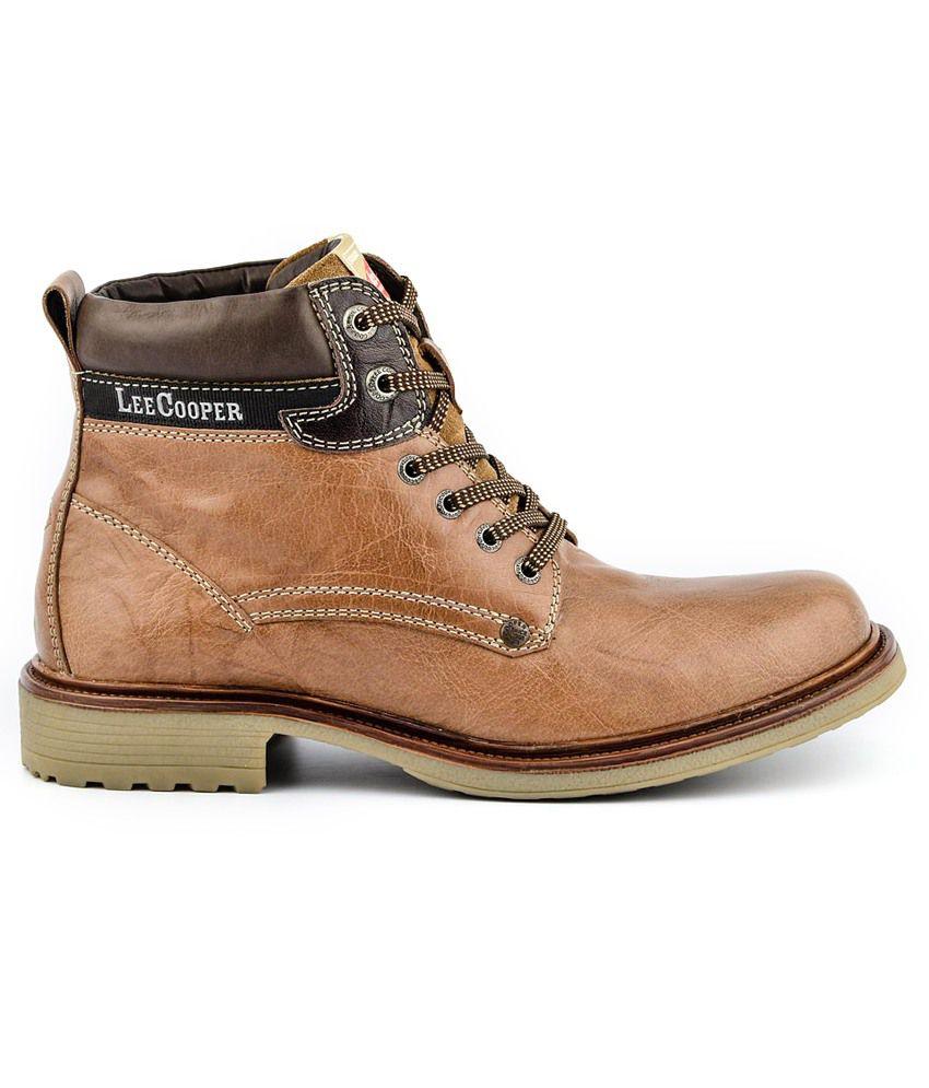 4425ffe1a73 Lee Cooper Tan Boots Art LC2018TAN - Buy Lee Cooper Tan Boots Art ...