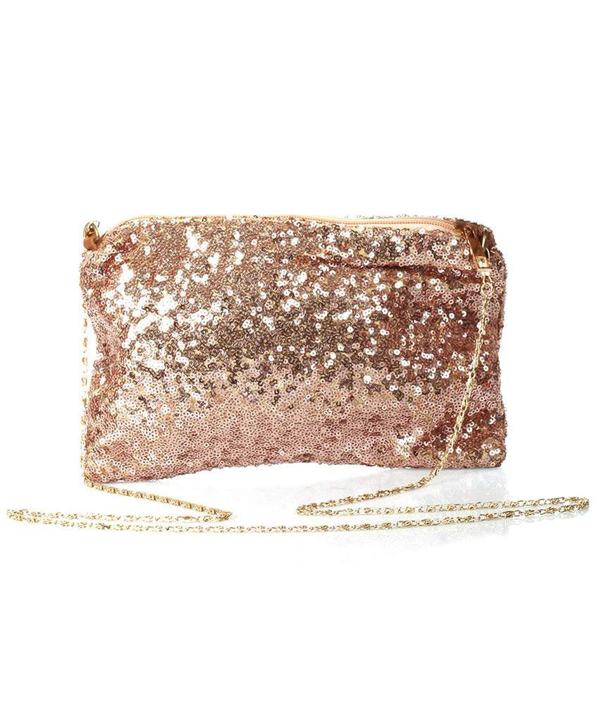 521e4f965 Buy Ella Bags Rose Gold Sequin Detailed Clutch at Best Prices in India -  Snapdeal