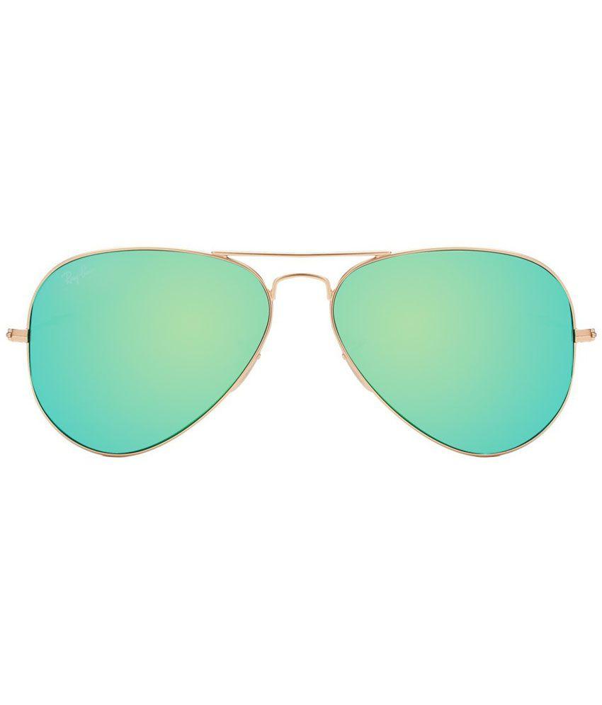arista ray ban 8ogj  Ray-Ban Green Aviator Sunglasses RB3025 112/19 58-14