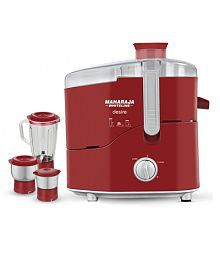 Maharaja Whiteline Desire Juicer Mixer Grinder Red and White