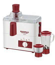 Maharaja Whiteline Mark 1 Juicer Mixer Grinder Red and White