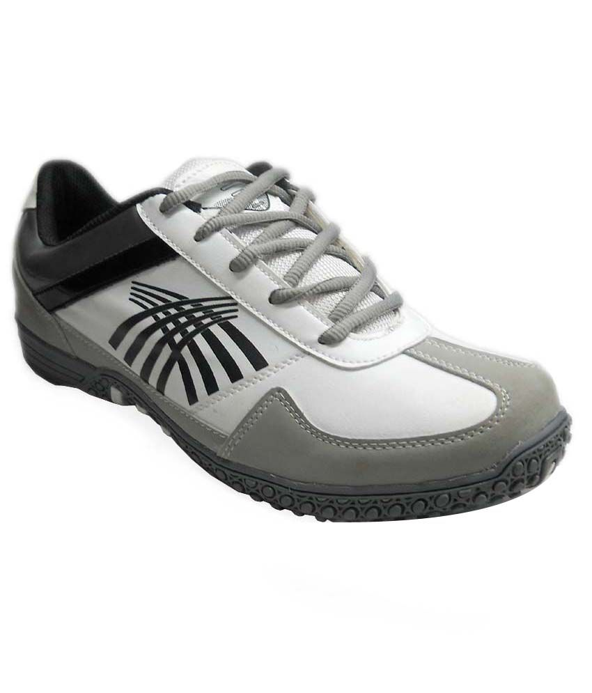 Fast Trax Grey And White Avinator Mens Sports Shoes