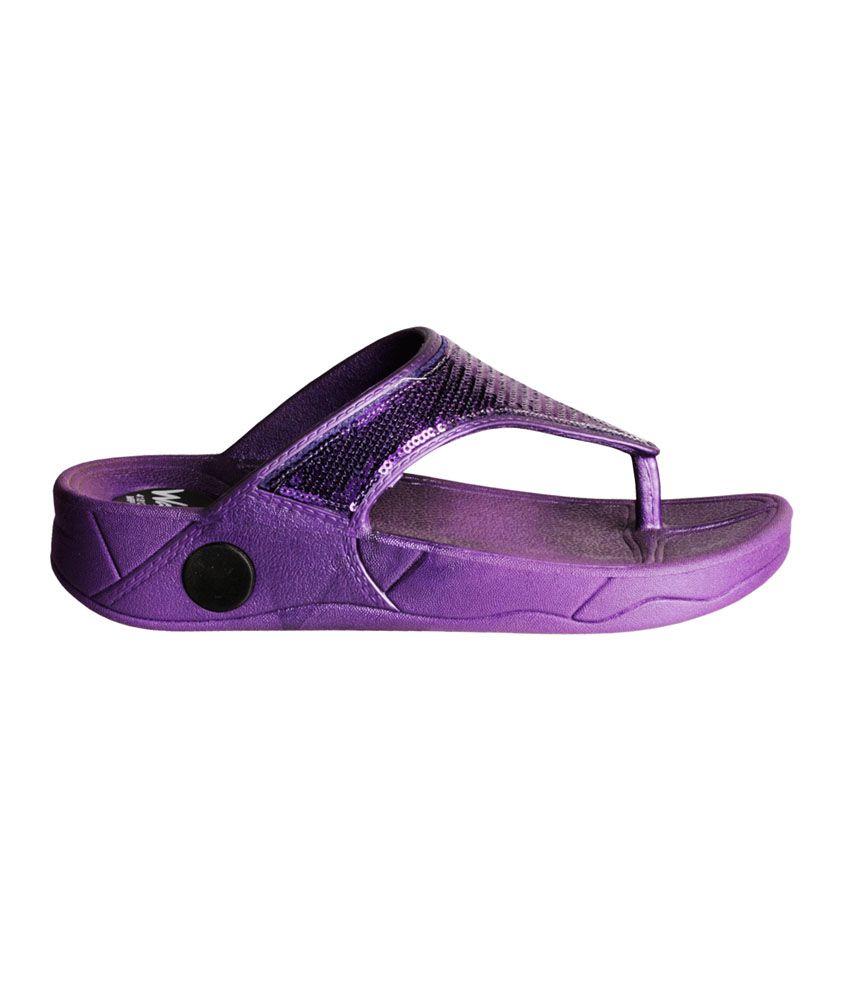 5a1e6314e5d Khadim s Waves Purple Platform V-strap Slip-ons Price in India- Buy ...