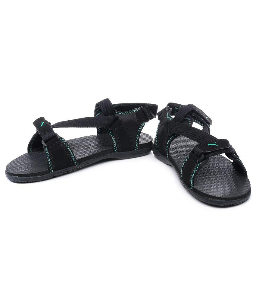 Puma black velcro sandals - Puma Black Woody Dp Floater Sandals Puma Black Woody Dp Floater Sandals