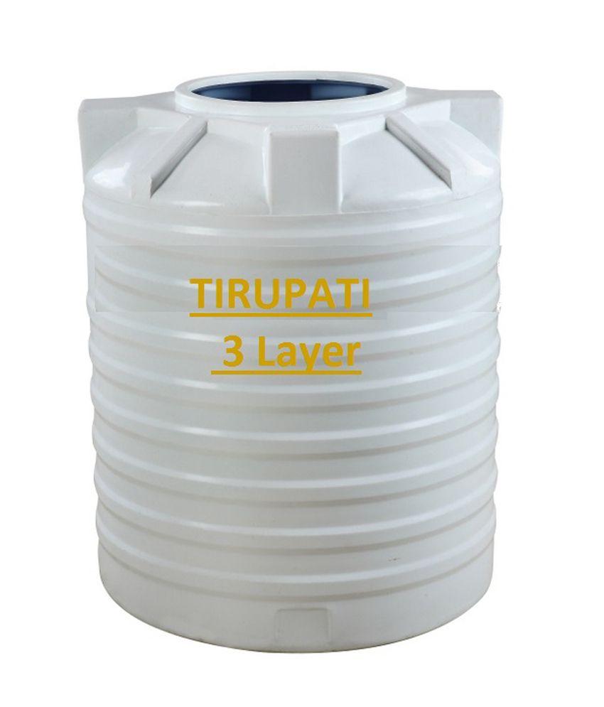 Buy Tirupati Roto Moulded Water Tank- Triple Layer (1000 Ltr
