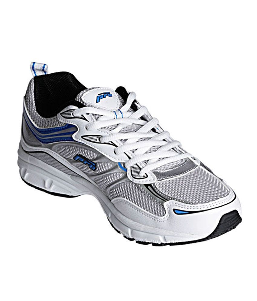 Khadim's Pro White Lace-up Sports Sneakers