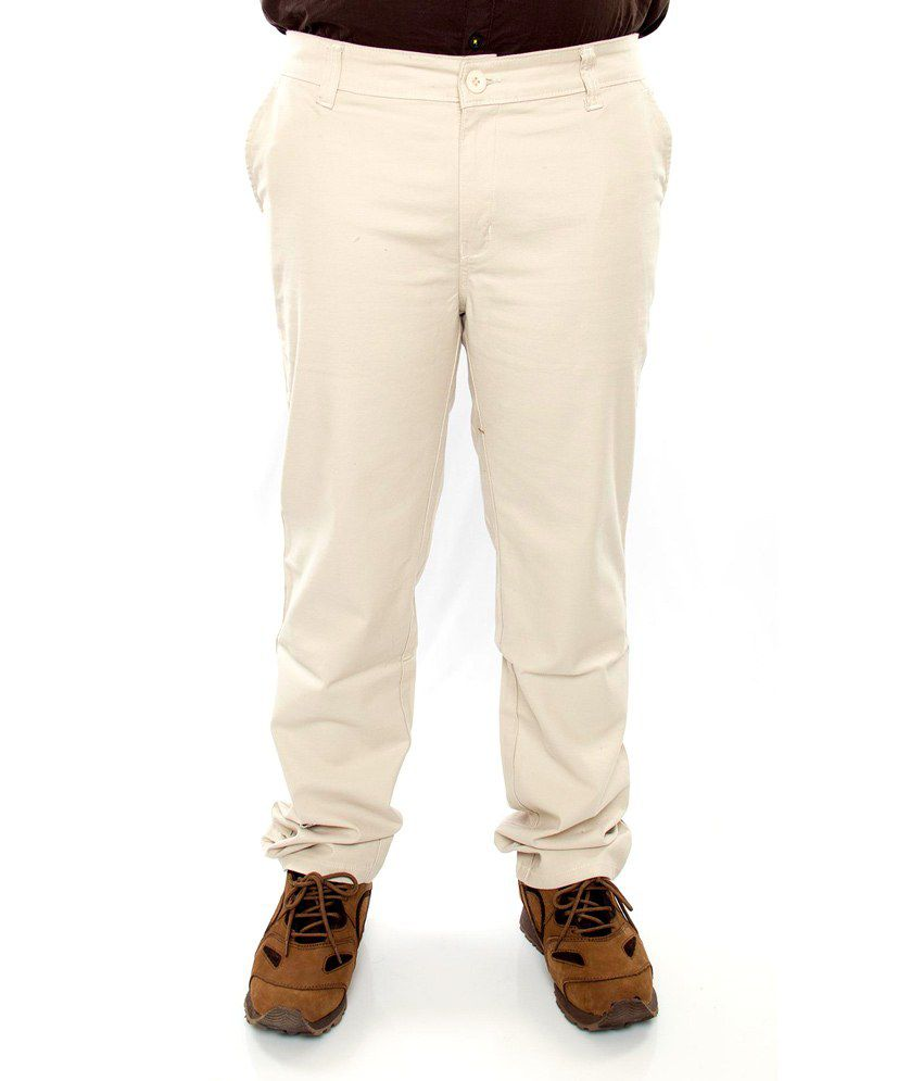 Prankster Cotton Lycra Slim Fit Trousers
