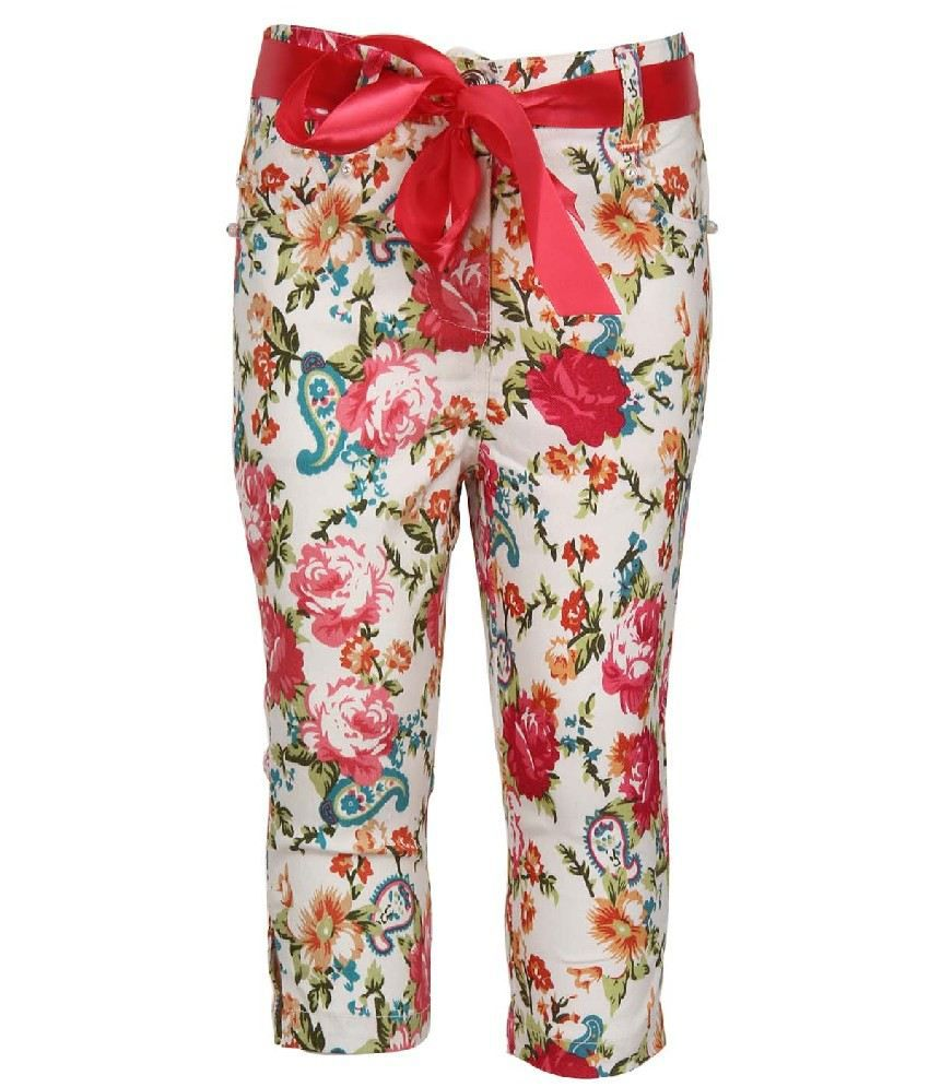 Daffodils Multi Colors Color Capris For Kids