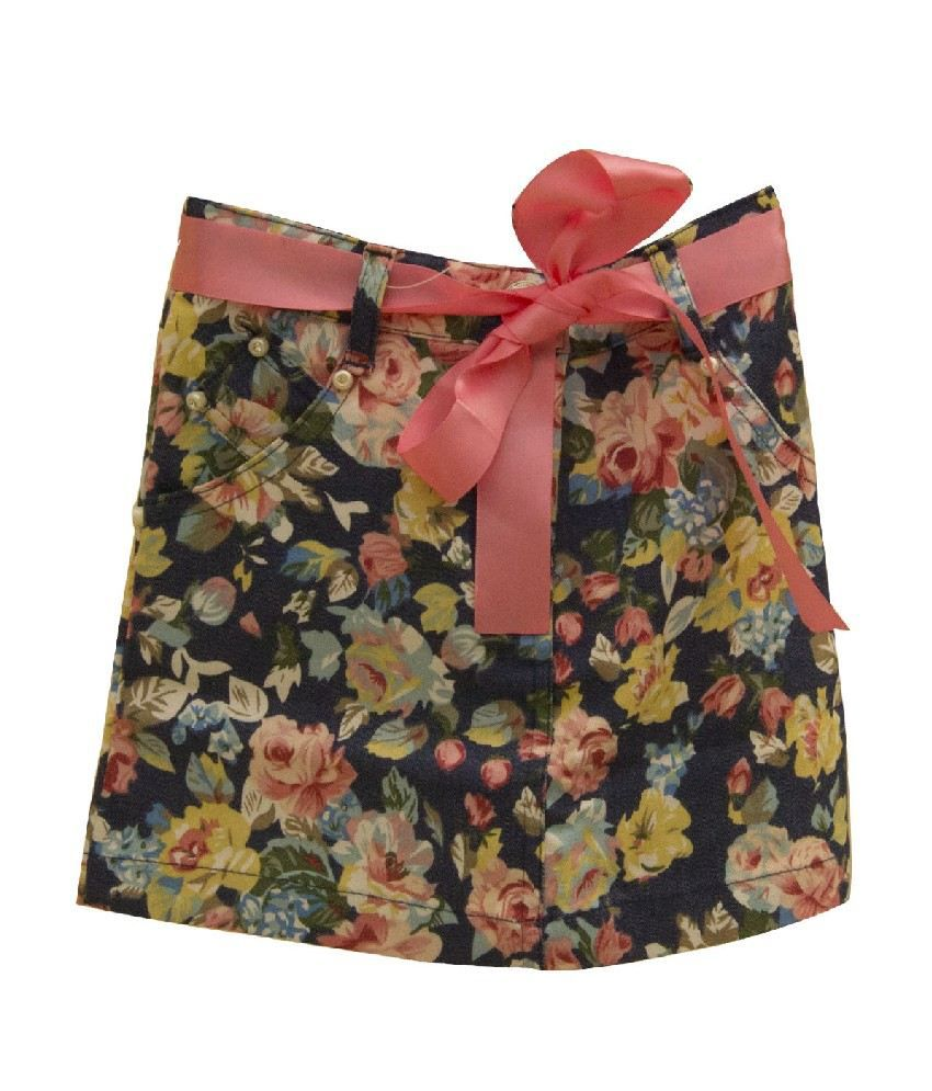 Daffodils Navy Color Skirts For Kids