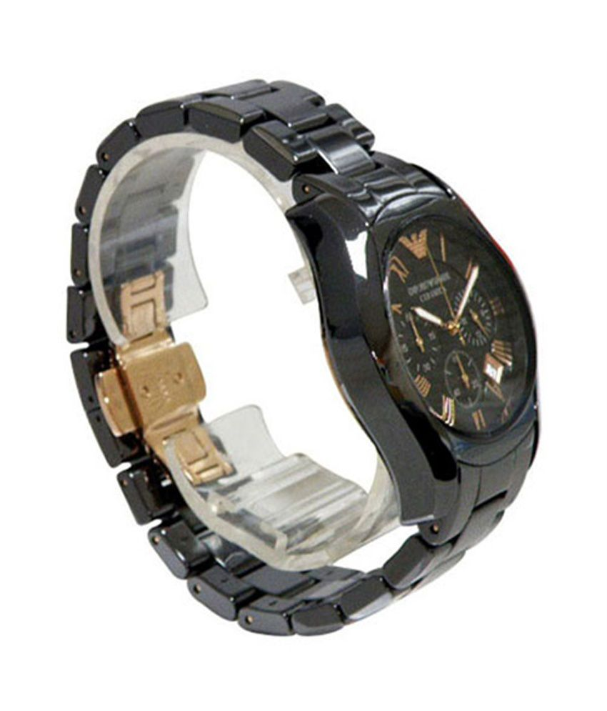 46233e9af95f Emporio Armani Ar-1410 Black Ceramic Men s Watch - Buy Emporio ...