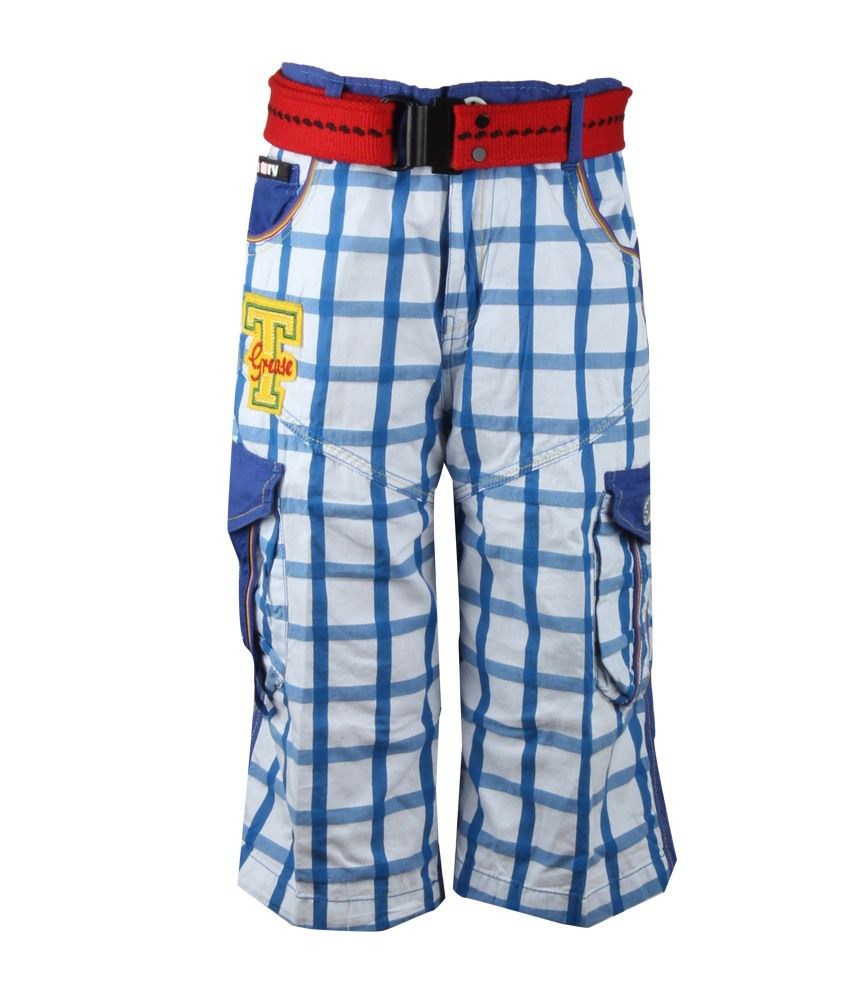 The Oil&Grease  Blue Color Shorts For Kids