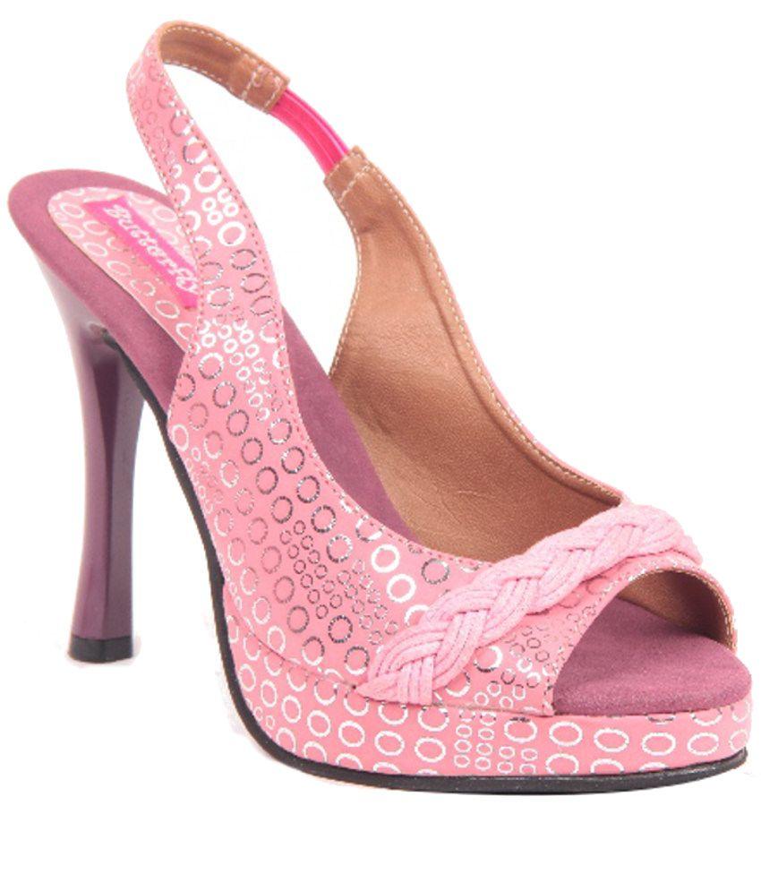Butterfly Pink Stiletto Sandals